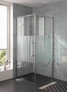 Dank der modernen Glasmattierung Linea.01 bietet die Atelier Plan einen zeitlos-modernen Sichtschutz im Bad. Bild: HSK Duschkabinenbau KG
