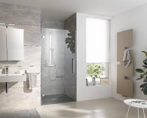 Die Atelier Plan Pur besticht durch ihre rahmenlose Duschabtrennung, die optisch für mehr Freiheit sorgt. Bild: HSK Duschkabinenbau KG