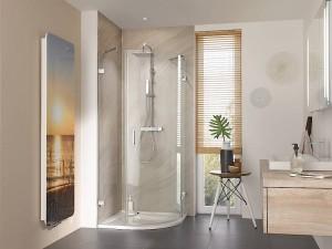 Auch als Runddusche ist die filigran designte Atelier Plan Pur ein echtes Highlight in jedem Bad. Bild: HSK Duschkabinenbau KG