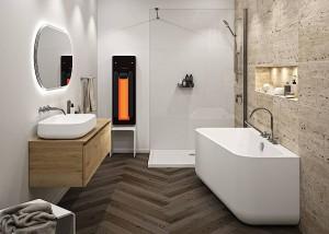 Repabad sorgt auch im Kleinbad für Wellness-Optionen mit besonderem Gesundheitskick und macht Dusche, Badewanne & Co. multifunktional. Foto: Repabad